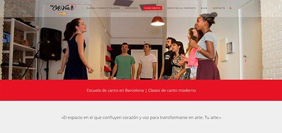 Diseño pagina web escuela de canto Barcelona