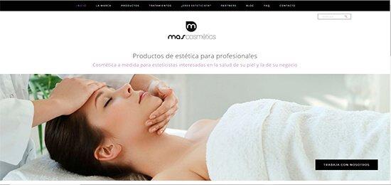 Diseño pagina web productos belleza