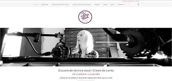 Diseño pagina web profesora de canto