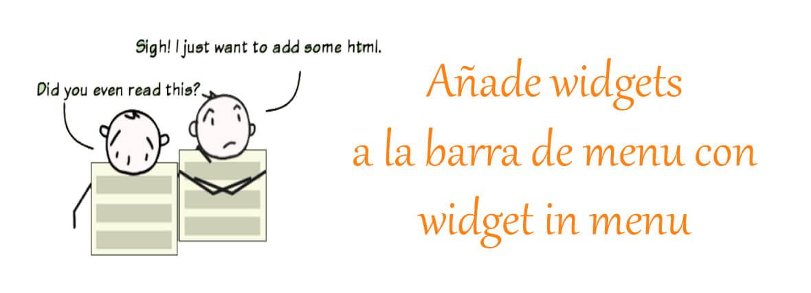 Insertar widgets al menu Wordpress