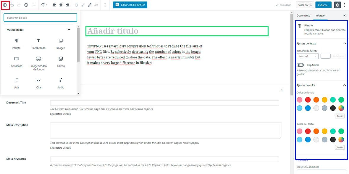Diseño de webs con Gutenberg y WordPress