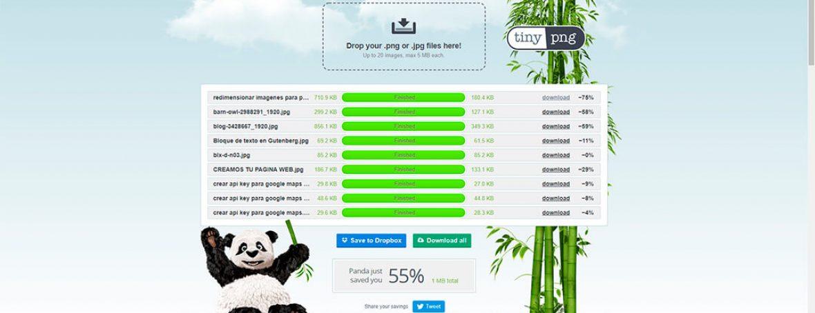 Bajar peso de imagenes para WordPress