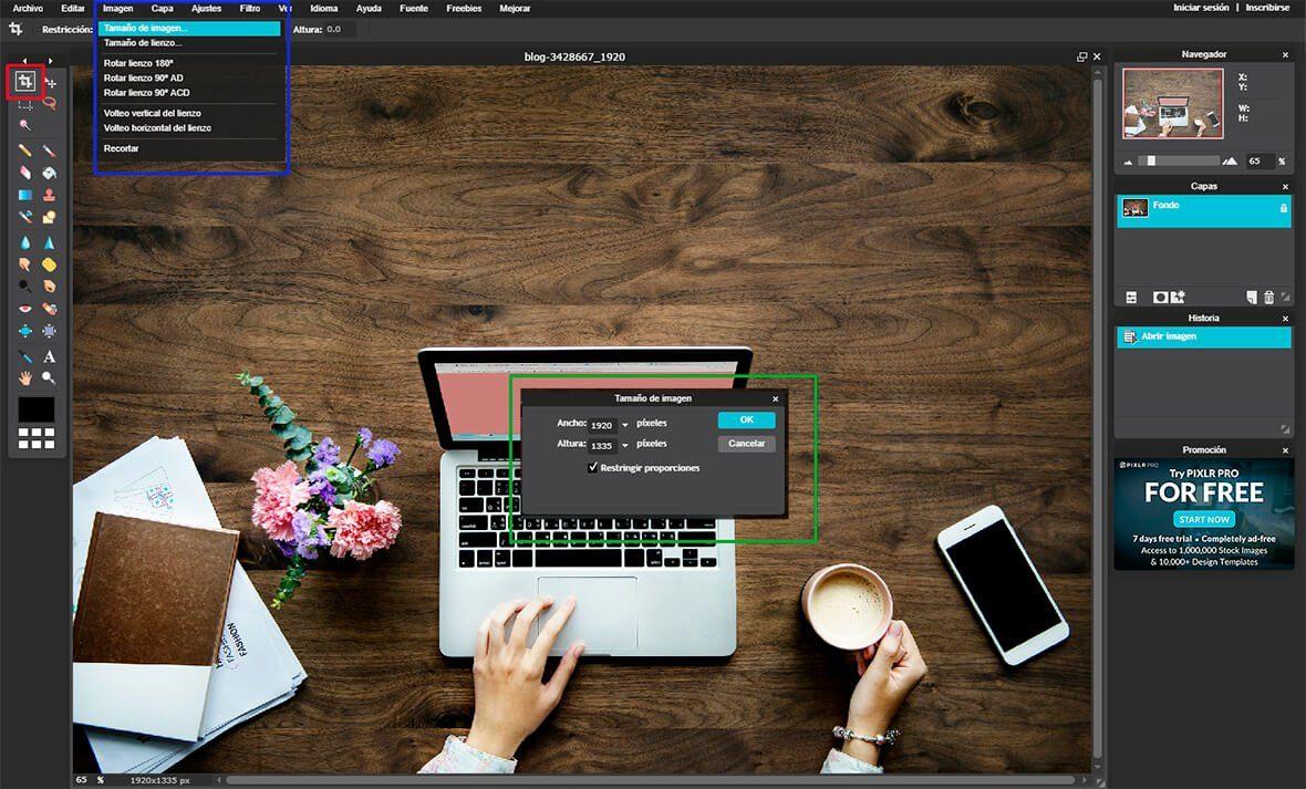 Redimensionar imagenes para wordpress