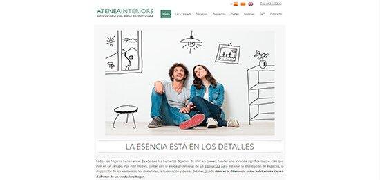 Diseño pagina web decorador de interiores