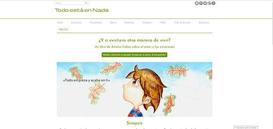 Diseño pagina web libro autoayuda