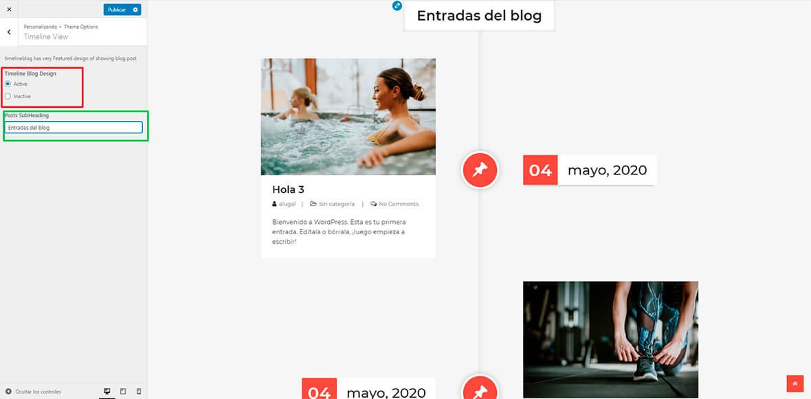 Crear un timeline con el theme timelineblog