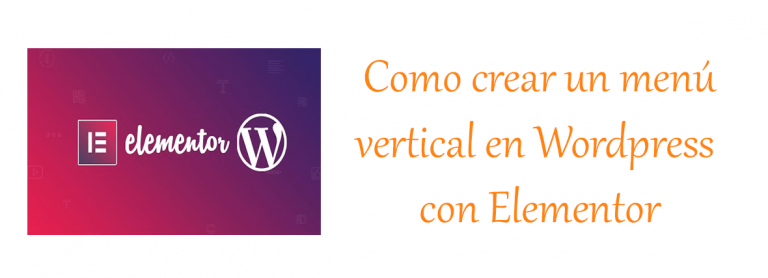Cómo crear un menu vertical con Elementor