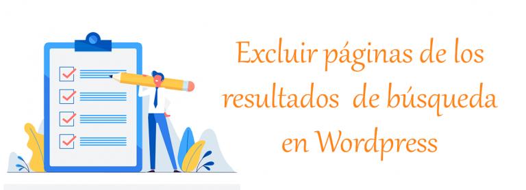 Excluir paginas de los resultados de busqueda en Wordpress